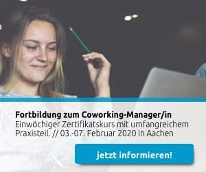 Fortbildung zum Coworking-Manager